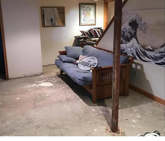 Basement Water Damage Before